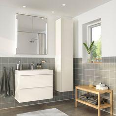 Ikea Godmorgon Br Atilde Viken Bathroom Vanity White High Gloss In 2019 Ikea Bathroom, Bathroom Furniture, Small Bathroom, Furniture Sets, Wooden Furniture, Antique Furniture, Bathroom Vanities, Outdoor Furniture, Furniture Layout