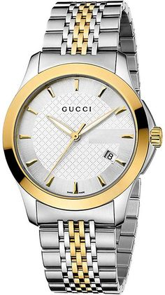 df8c1333491 Gucci YA126409 G-Timeless Collection stainless steel and yellow-gold PVD  watch