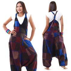 Overalls & Jumpsuits - Hippie Jeans Jumpsuit Hose Haremshose Overall - ein Designerstück von princess-of-asia bei DaWanda