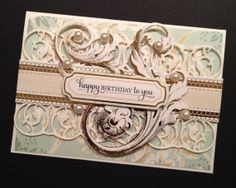 Elegant Birthday Card with Fancy Shabby-Sweet Floral Anna Griffin Papers