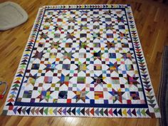 quilts with borders. | one more step to go btw the inner border used