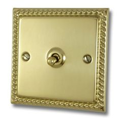 Georgian Polished Brass Sockets and Switches Switch Plates, Polished Brass, Georgian, Georgian Language