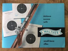 Vintage Walther Small Bore Rifle Catalog 1960s | eBay