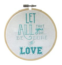 Bible Verse Cross Stitch Embroidery 1 by TheJoyfulSquid on Etsy