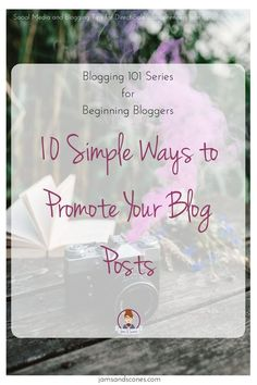 10 simple ways to promote your blog posts old fashioned camera with pink smoke.