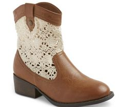 Girls' #crochet fashion boots from Target