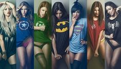 Superhero boudoir poses - Rock T's / Tanks work as well