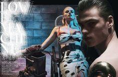 love machine: lara stone by steven klein for w march 2015