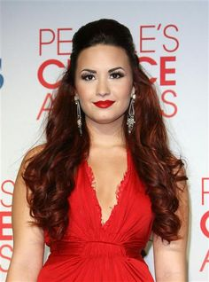 Take a cue from #DemiLovato's bold #red #lip. See more celebs on Wonderwall: http://on-msn.com/1dqnuFb