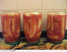 Pomidorowe ogóreczki Składniki (przepis na 8 słoików 0… na Stylowi.pl