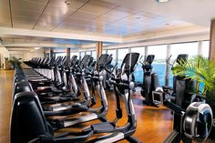 Work off all that delicious cruise food at the Pulse Fitness Center