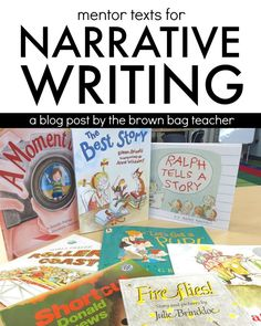 I have fallen in love with mentor texts and my 1st grade friends love having 'real' models to follow when writing.