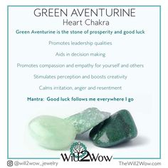 Green aventurine helps me feel lucky🍀 Chakra Crystals, Crystals Minerals, Crystals And Gemstones, Stones And Crystals, Green Gemstones, Gem Stones, Crystal Identification, Crystal Healing Stones, Spirituality