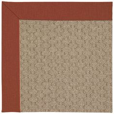 Capel Zoe Grassy Mountain Machine Tufted Persimmon/Brown Area Rug Rug Size: Square 4'