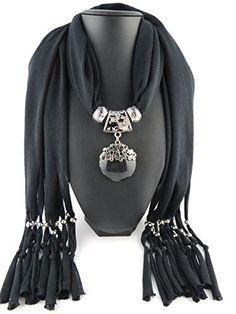 Jemis Party Women Scarf Neck Wrap Necklaces Jewelry (Black) Jemis http://www.amazon.com/dp/B0127CKQRA/ref=cm_sw_r_pi_dp_q5O6vb1MRS4V1