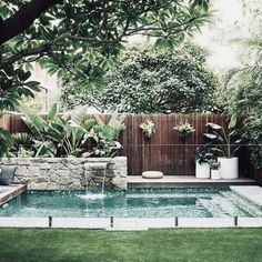 53 Minimalist Small Pool Design With Beautiful Garden Inside Both types of indoor pool design can be integrated or connected to the home. Concrete pools are definitely the most Small Swimming Pools, Small Backyard Pools, Small Pools, Swimming Pools Backyard, Swimming Pool Designs, Backyard Landscaping, Landscaping Ideas, Backyard Designs, Pool Garden