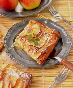 tarta z jabłkami, ciasto filo, co zrobić z ciasta filo, jabłka, deser Lasagna, French Toast, Baking, Breakfast, Ethnic Recipes, Sweet, Bakeries, Pies, Apple