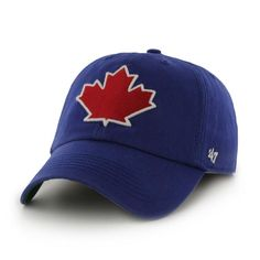 official photos b9961 8747e Toronto Blue Jays 47 Brand Blue Maple Leaf Logo Franchise Fitted Hat Cap