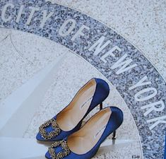 Carrie's blue Manolos