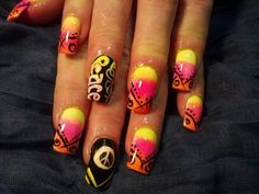 My hippy design nails