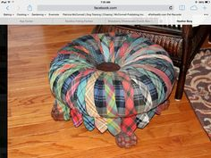 Awesome footstool made from ties | foot stools | Pinterest