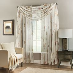 The Springhill Sheer Window Curtain and Scarf Valance add modest privacy while allowing natural light to gently pass through. The sheer fabric drapes beautifully and features a lovely wildflower print for added style.