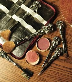 """Victorian Trading Company """"Love Disarmed"""" Cosmetic Brushes"""