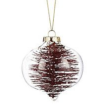 CANVAS Red Glass Brush Filled Ornament