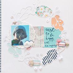 Bunterpinguin Scrapbooklayout für Creative Scrappers mit Counterfeit Kit Challenge Stashkit