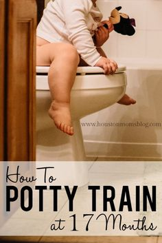 """First thing is first, I have to point out some very important verbiage in the title. Did you notice that I said """"How I Potty Trained MY 17 Month Old""""??? I didn't say my cousin's, or my neighbor's, or anyone else's. Nope. I just referred to potty training MY child. Because I get it. As an…"""