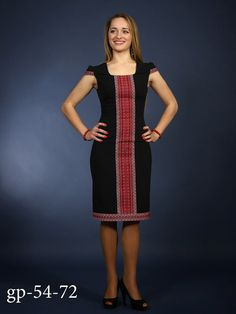 Black vyshyvanka. Fashion embroidered dress. Ukrainian by Ukrshop