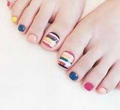 Are you looking for pretty toe nail design in summer? Look here, check these 26 popular toe nail ideas, you can get inspiration and get your own design Pretty Toe Nails, Cute Toe Nails, Pretty Toes, Toe Nail Color, Nail Colors, Colours, Grow Long Nails, Nailed It, Pedicure Nails
