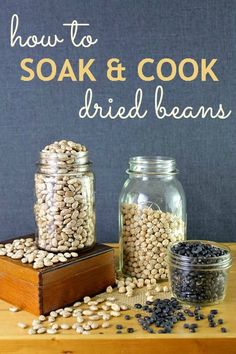 How to soak & cook dried beans -- never buy a can again! GINGER - soak beans with ginger is proven to eliminate a major portion of the gas.
