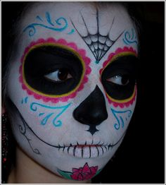 Art Dia de los Muertos Halloween face paint all-hallow-s-eve Halloween Kostüm, Halloween Costumes, Halloween Face Makeup, Favorite Holiday, Holiday Fun, Day Of Dead Makeup, Sugar Skull Makeup, Sugar Skulls, Folk