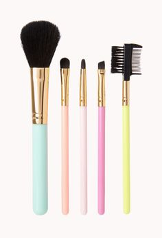 Favorite Things Cosmetic Brush Set by Forever 21. OMG, I love this colors!
