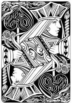 queen of hearts art | Playing Card Art: Playing Cards by Cheryl Eveland 645.921