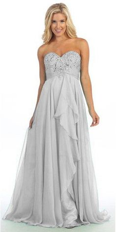 Long Gathered Skirt Strapless Studded Mint Prom Dress