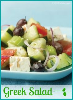 Greek Salad | FOODIEaholic.com #recipe #cooking #appetizer #salad #greek #mediterranean
