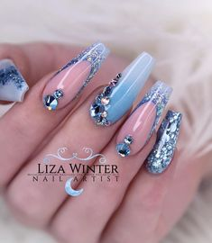 nails, You can collect images you discovered organize them, add your own ideas to your collections and share with other people. Gorgeous Nails, Love Nails, Fun Nails, Pretty Nails, Cute Acrylic Nails, Acrylic Nail Designs, Nail Art Designs, Nail Art Strass, Exotic Nails