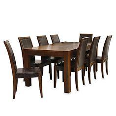Commodity juego de comedor tmhc226 112t madera juego for Comedor 8 sillas falabella