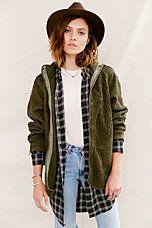 Urban Renewal Vintage Hooded French Liner Jacket