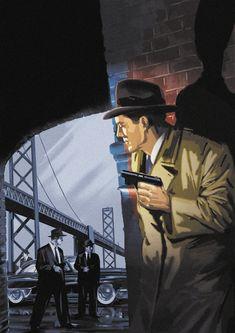 Film noir - Femme fatale by on DeviantArt Pulp Fiction Art, Pulp Art, Science Fiction, Mafia, Detective, Gangster, Pulp Magazine, Game Concept Art, Retro Art