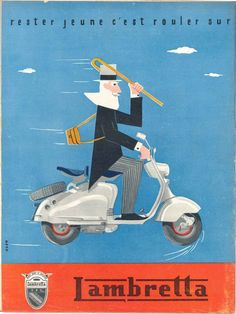 #Graphicdesign Vintage Lambretta adverts (c. 1956). #FontSunday…