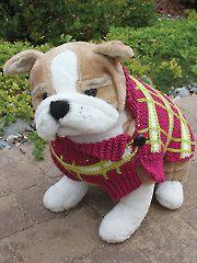 Crochet - Poppy's Plaid Crochet Dog Sweater - #AC01524