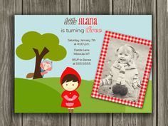 Little Red Riding Hood Invitation  FREE thank by DazzleExpressions, $15.00