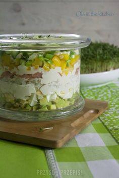 Sałatka z awokado Guacamole, Salads, Food And Drink, Pudding, Menu, Cheese, Baking, Vegetables, Desserts