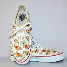 Winnie the Pooh 80s VINTAGE VANS Sneakers Punk Skate Tennis Shoes Size 8.