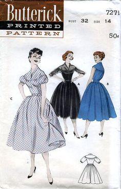 Butterick 7271 (1955)