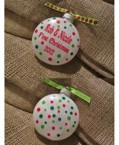Items Similar To Personalized Glitter Christmas Ornament First Christmas Together On Etsy
