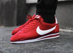 Nike Cortez OG Nylon Gym Red (rouge) Me Too Shoes, Men's Shoes, Shoes Sneakers, Air Jordan, Asics Tiger, Baskets Nike, Adidas, Nike Cortez, Kicks